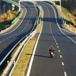 Motorcycle Rider on an Open Highway