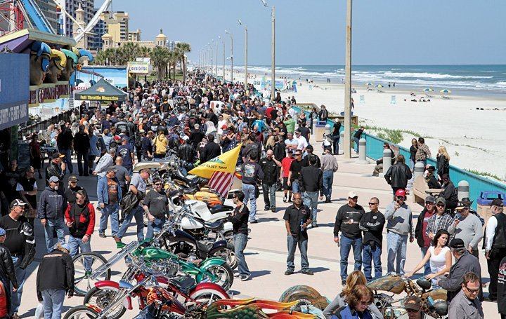 Bike week in Daytona Beach, FL