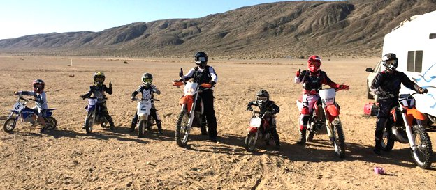 Family Off-road riding