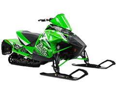 Green Snowmobile