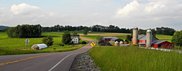 Country road in Delaware