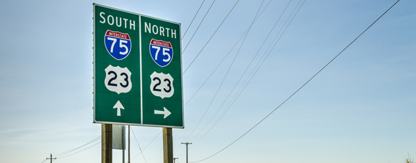 Highway Signs in Michigan