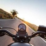 Rider on open road