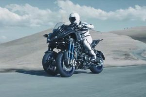 Rider on Concept Motorcycle