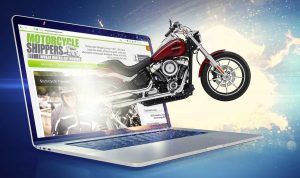 Motorcycle Emerging from Computer