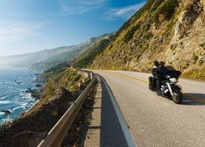 Motorcycle Pacific Coast Highway California