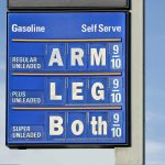 Sign Showing Gas Prices