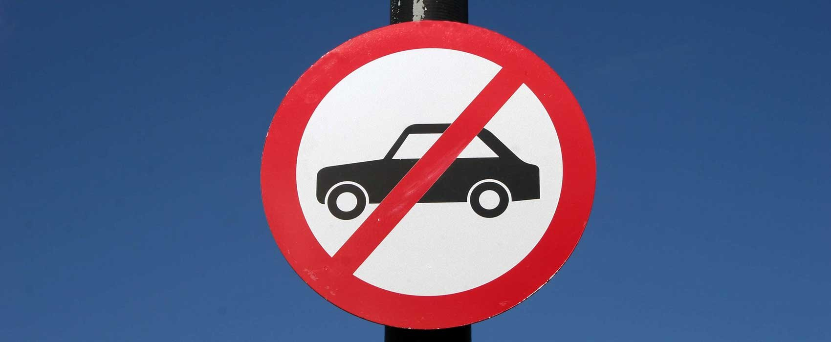 Sign Showing No Cars