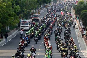 Large Group of Motorcycle Riders