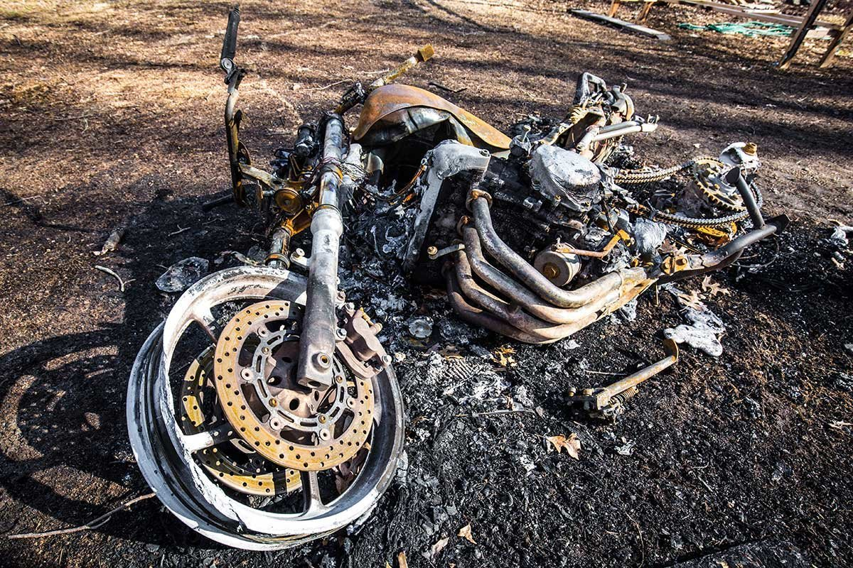 Burned Motorcycle