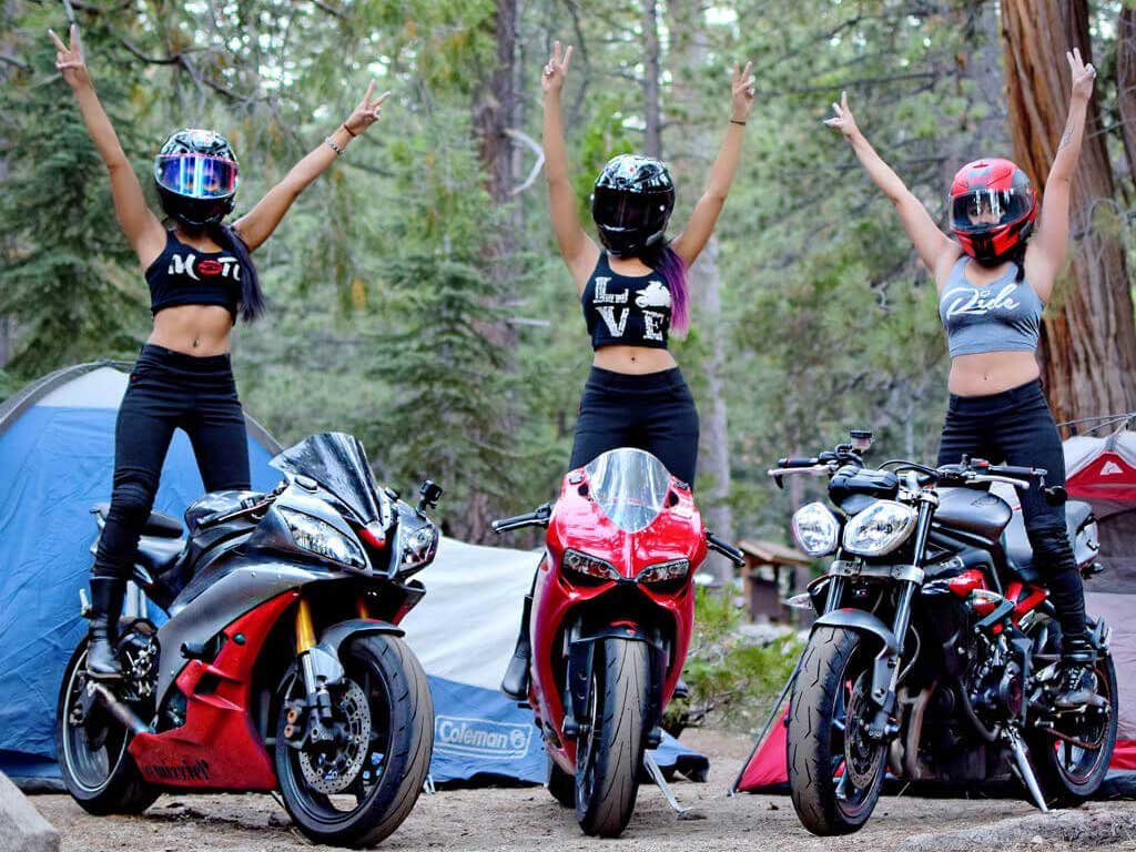3 Women on Motorcycles