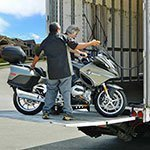 Loading Motorcycle using a Lift Gate