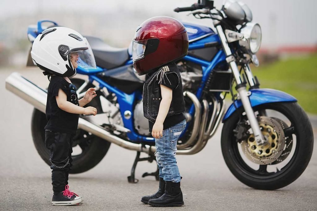 Kids Riding Motorcycles