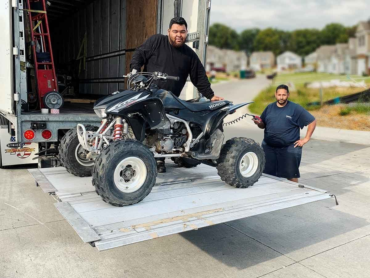 ATV Loading On Truck