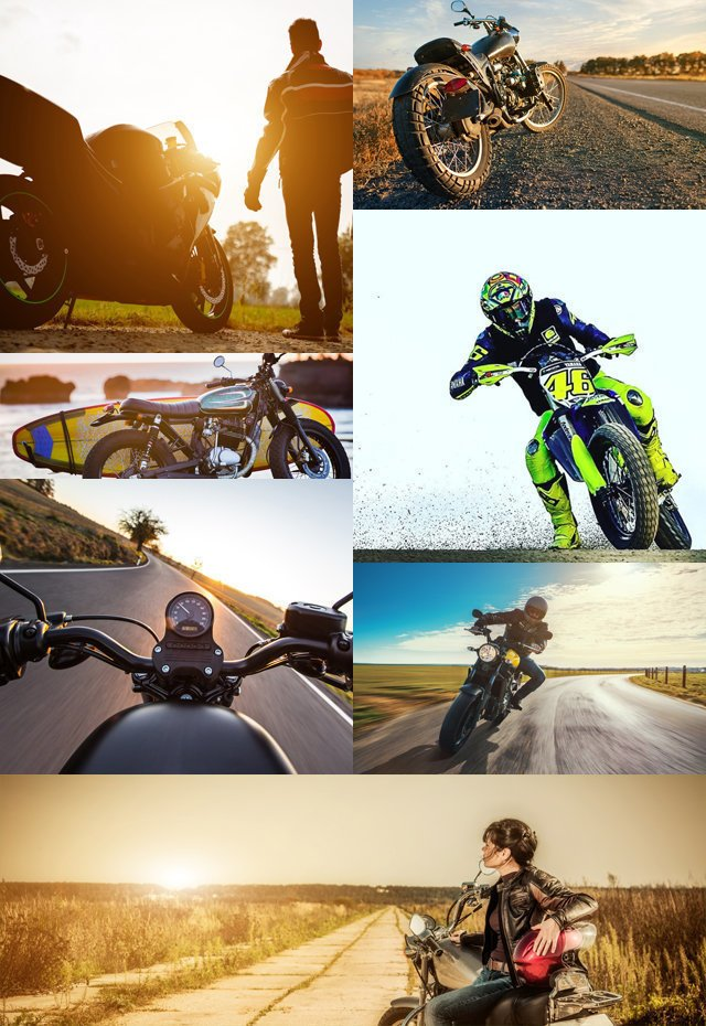 Collage of Different Motorcycles