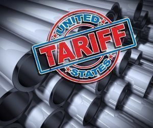 Steel Tubes with Tariff Logo