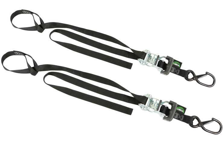 2 Soft Cinch Motorcycle Straps