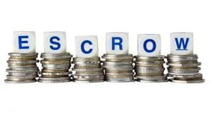 Escrow spelled out over coins