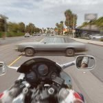 View from Motorcycle Motorcycle Crash