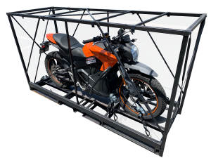 Pop-Up motorcycle crate assembled before wrapping