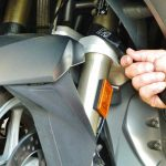 soft cinch motorcycle tie downs on a bmw