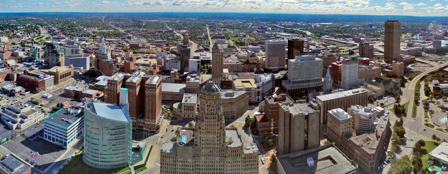Buffalo New York Aerial View of Skyline