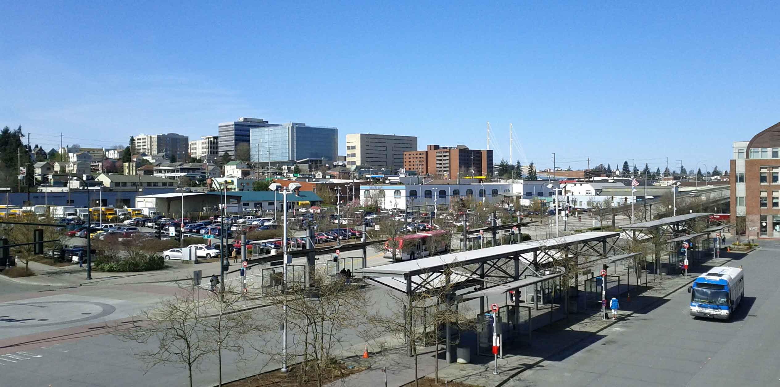 Everett Washington Skyline from Everett Station