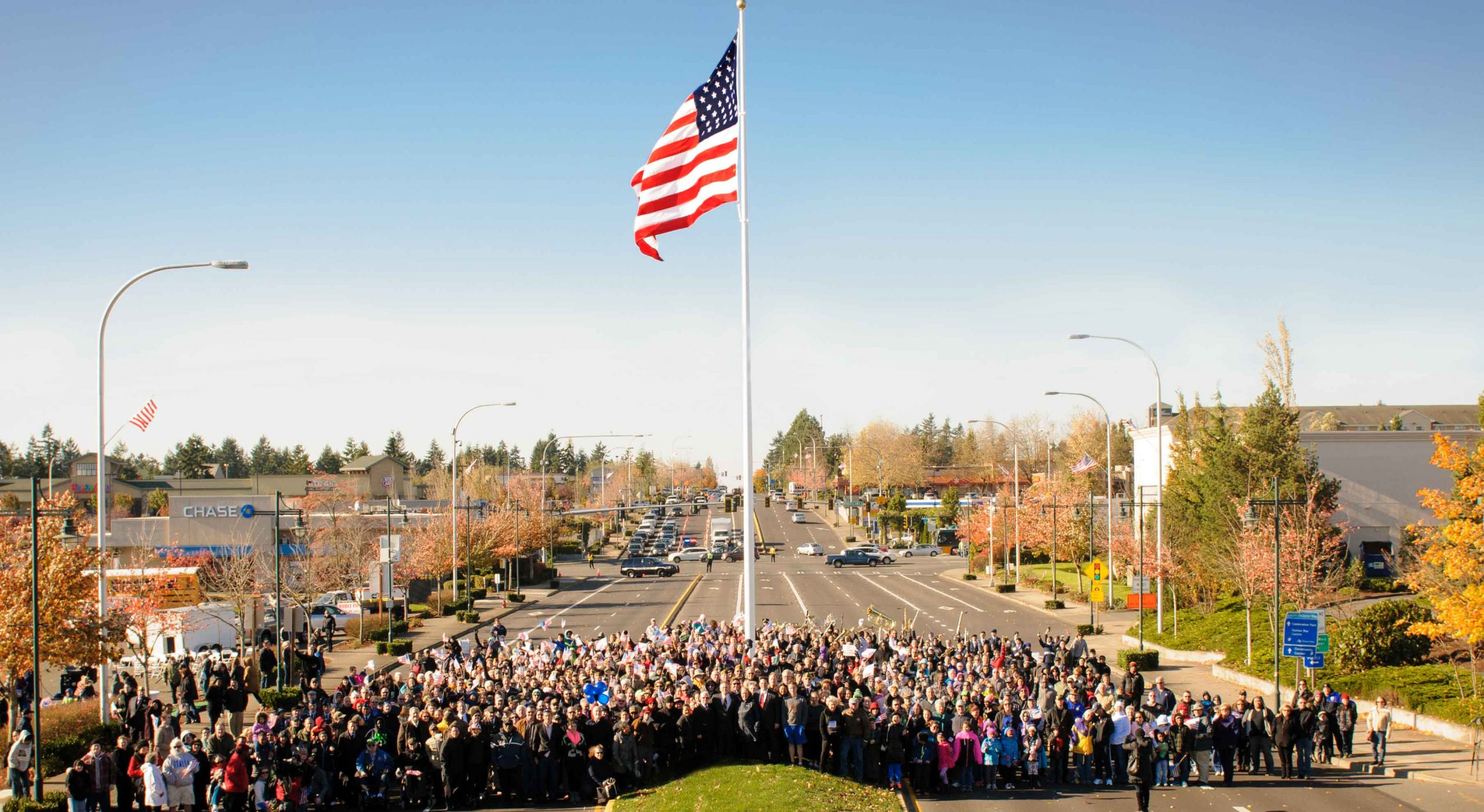 Federal Way Washington Raising of the Flag