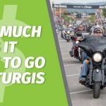 Motorcycle Rider on the streets of Sturgis