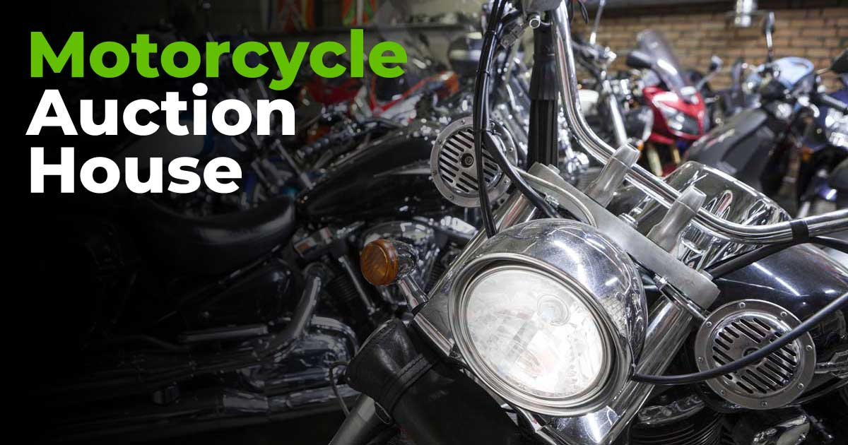 Multiple motorcycles inside a warehouse