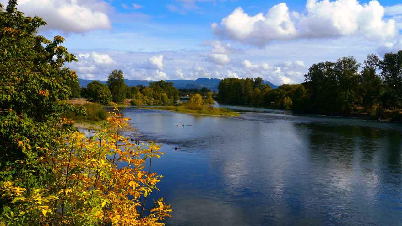 Willamette River in Eugene Oregon
