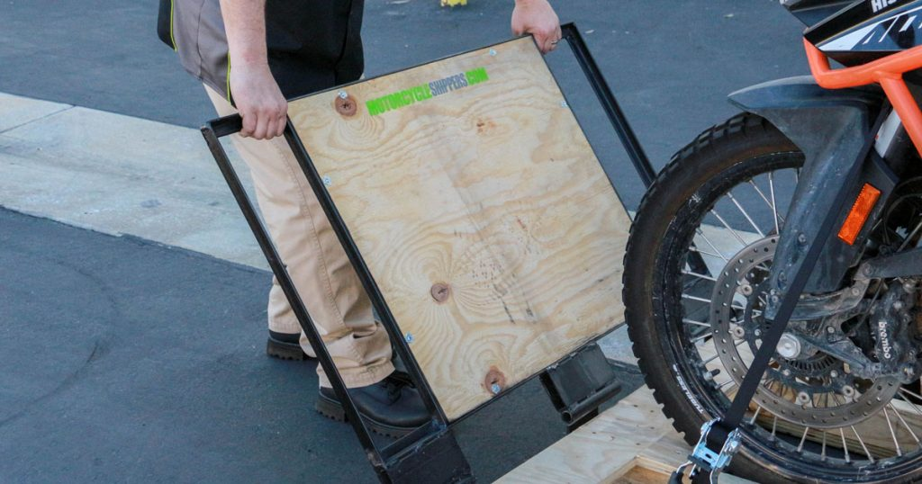 advanced motorcycle shipping system secure ramp